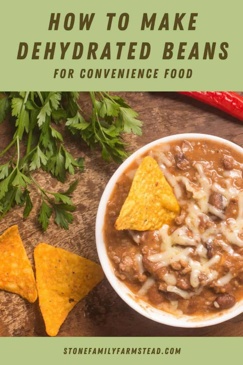 refried beans - How to Make Dehydrated Beans for Convenience Food - Stone Family Farmstead