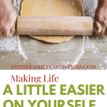 hands rolling out dough with a rolling pin with the title