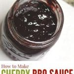 cherry bbq sauce in a jar
