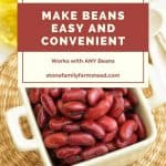 kidney beans in a bowl - How to Make Dehydrated Beans for Convenience Food- Stone Family Farmstead