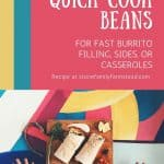 burritos on a plate - How to Make Dehydrated Beans for Convenience Food- Stone Family Farmstead