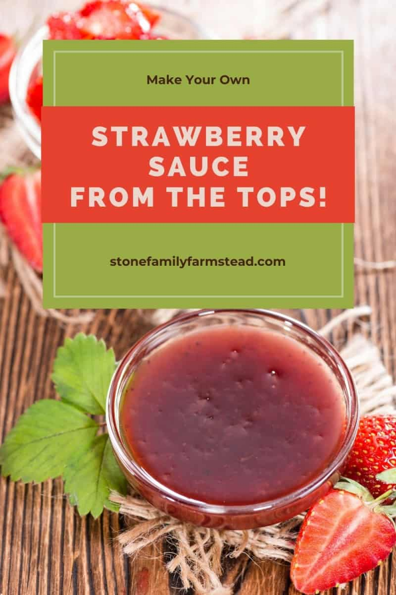 strawberry sauce - How to Make Strawberry Sauce {Using the Tops!} - Stone Family Farmstead