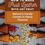 rolled up fruit leather with diced fruit - How to Make Fruit Leather from Any Fruit - Stone Family Farmstead